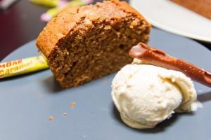 dessert cake au carambar glace vanille
