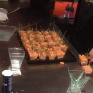 terrine de saumon, ricotta et poivrons