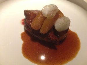 pigeon roti et foie gras poelé