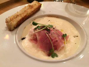 oeuf parfait a la parisienne_jambon blanc et capuccino pomme de terre