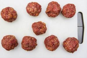 taille des boulettes de viande