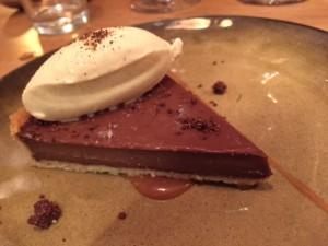 tarte chocolat caramel glace vanille