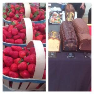 fraises et cake peyrerol